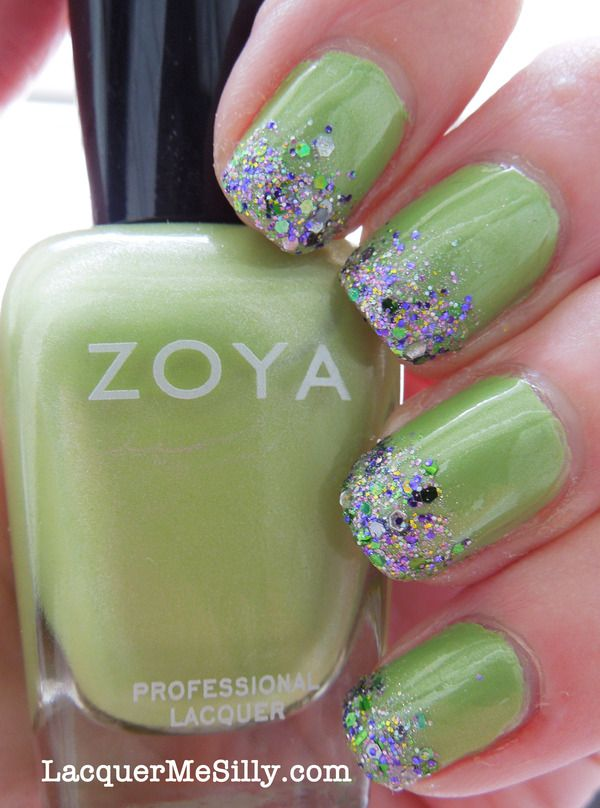 Glitter Gradient | Mallard, Glitter gradient nails and Make up