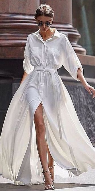 467bcc5b313 белое платье рубашка