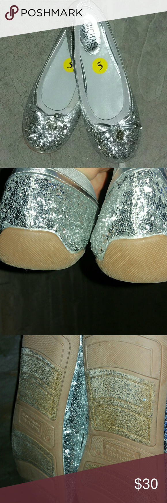 Michael Kors Glitter Flat In very good condition. MICHAEL Michael Kors Shoes Flats & Loafers