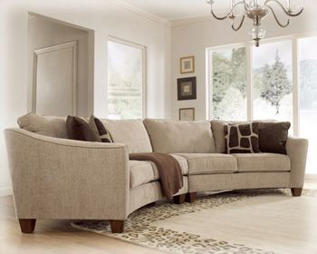 Classic Curves   Stone RAF Loveseat Sectional 6740156