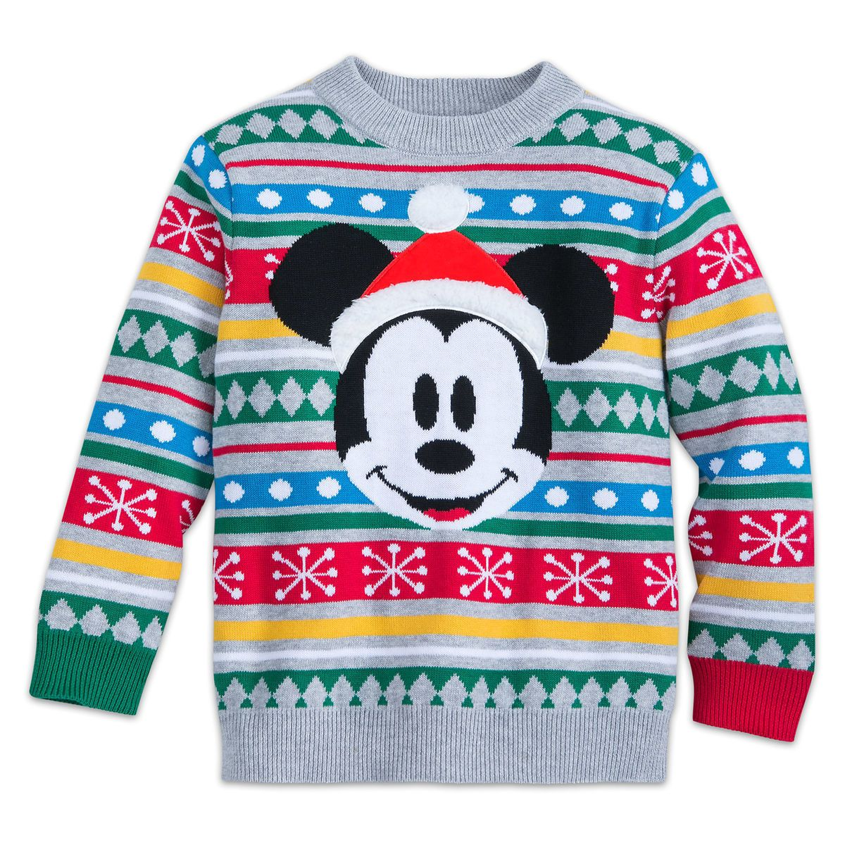 Green// Red Boys Sizes Disney Character Mickey Mouse Holiday Christmas Sweater