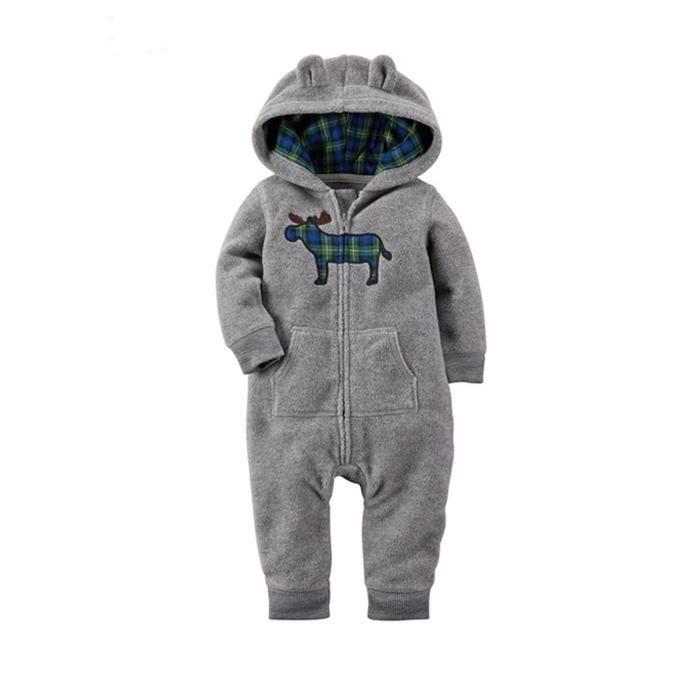 Kimocat Baby Boys Long Sleeve Hoodie Zip Front Sweatshirts