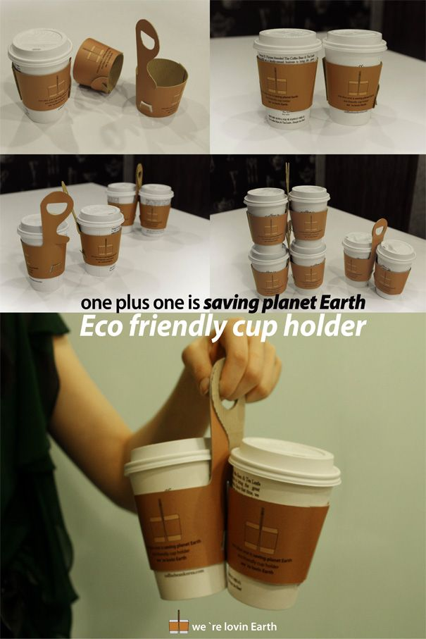 100 Clever Cardboard Products   Coffee cup sleeves, Paper