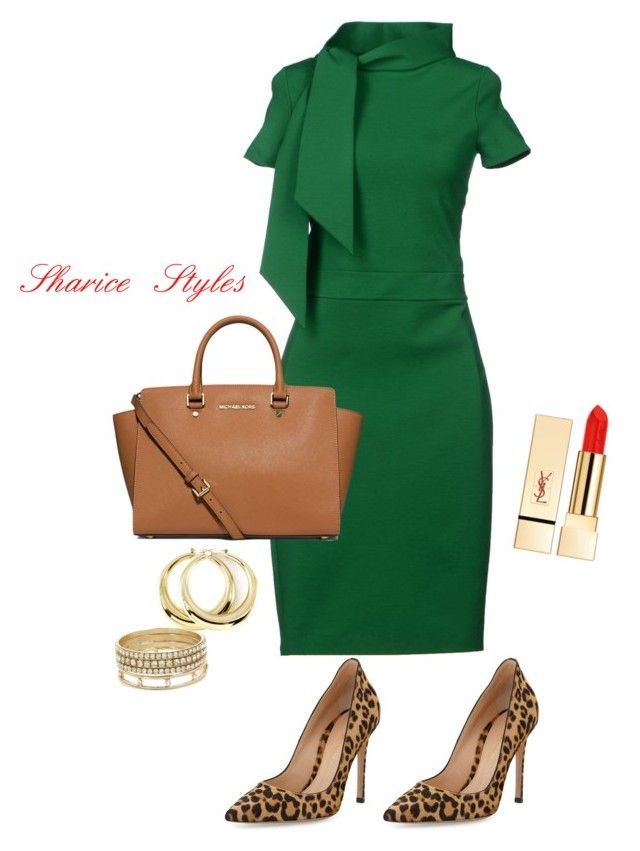 Work Look 2 by sharicestyles on Polyvore featuring polyvore, fashion, style, Dsquared2, Gianvito Rossi, MICHAEL Michael Kors, BCBGeneration, PUR and clothing