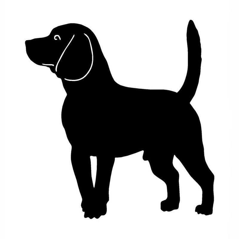 12 7 12 2cm Beagle Dog Vinyl Decal Car Sticker Lovely Fashion