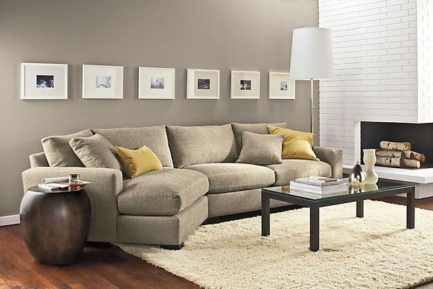 Room Board Metro Sofa With Angled Chaise Modern Chaise Sofas