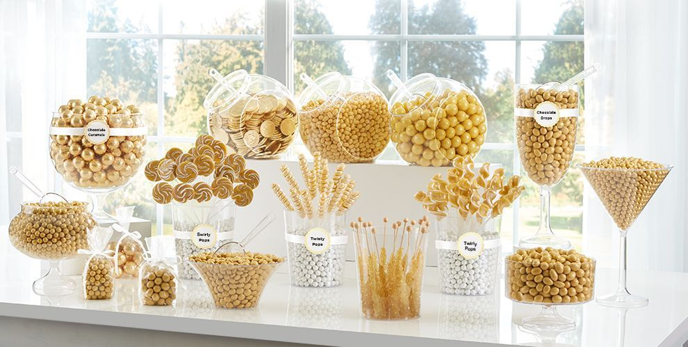 gold candy buffet engagement party gold candy buffet candy bar rh pinterest com gold candy buffet containers gold candy buffet containers