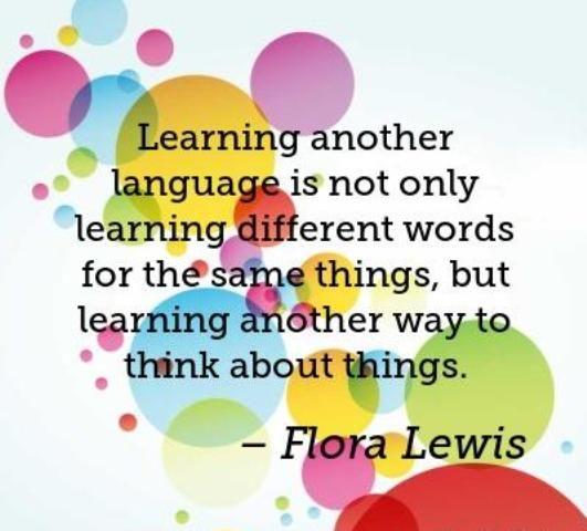 «Aprender otro idioma no es solamente aprender palabras diferentes para las mismas cosas, sino aprender otra manera de pensar acerca de las cosas», Flora Lewis #Language #PeoplePositive  http://bit.ly/ingleskype