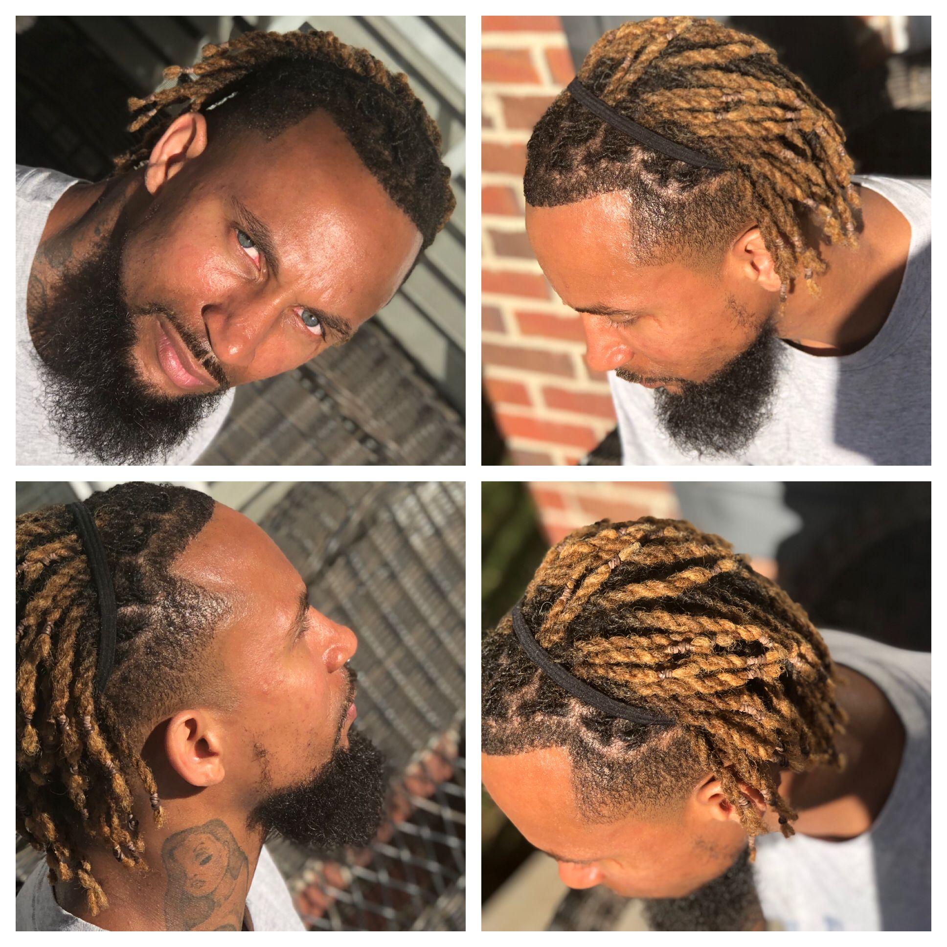 Instant Locs Crochet Locks Two Strand Twist Dreads Low Taper Fade Beard Blue Green E Dreadlock Hairstyles For Men Dread Hairstyles For Men Long Hair Styles Men