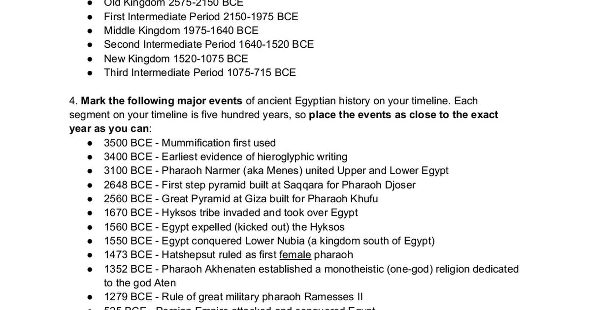 AncientEgyptTimelineDirections.docx Egyptian history