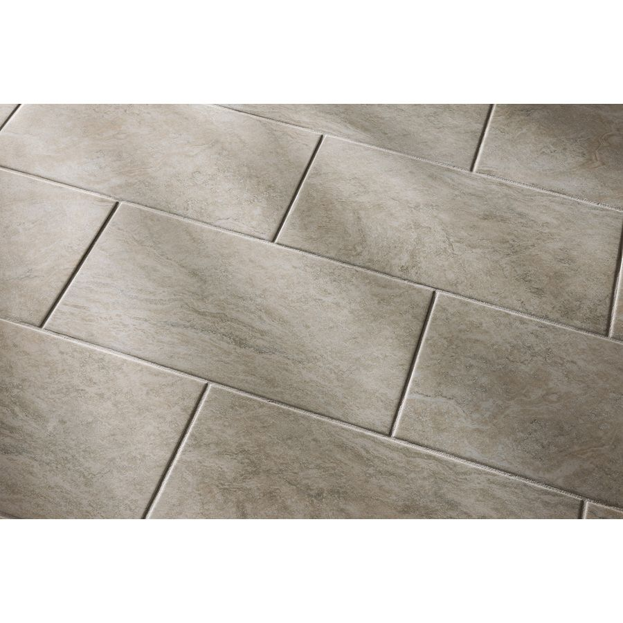 Shop style selections floriana heather glazed porcelain indoor outdoor floor tile common 12 in - Lowes floor tiles porcelain ...