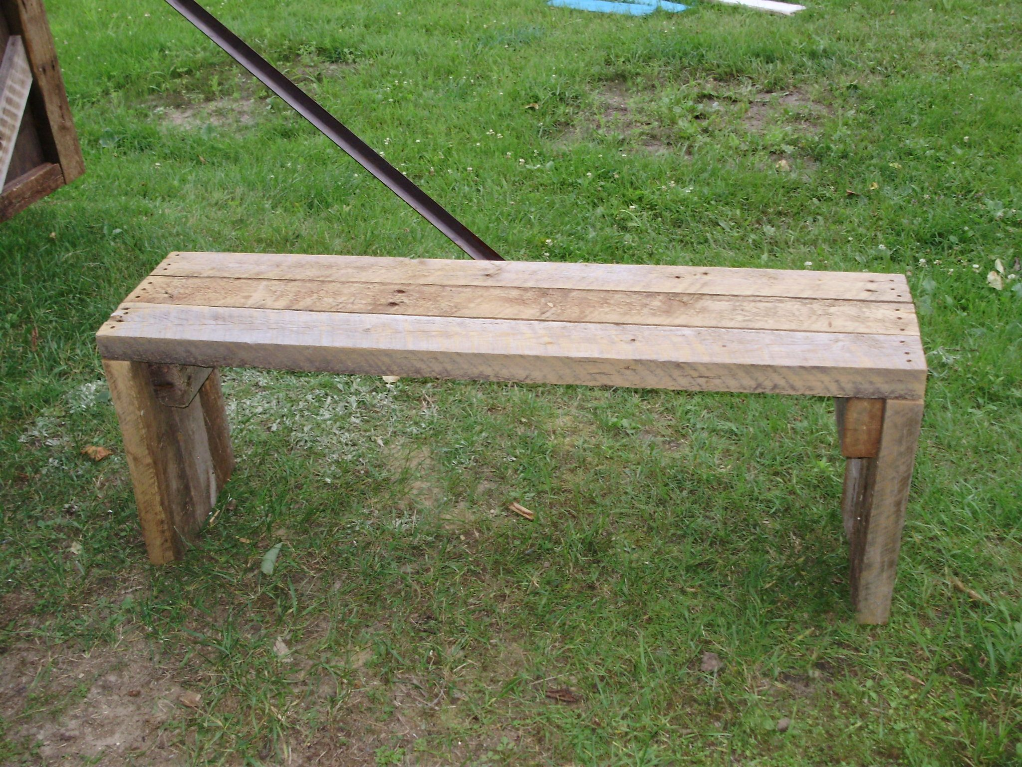 Groovy Bench Made From Rough Cut 2X4 From An Old Dairy Barn Dailytribune Chair Design For Home Dailytribuneorg