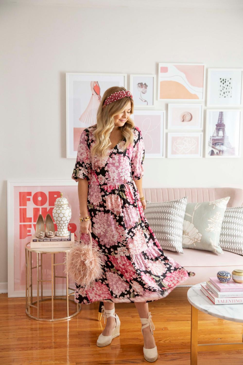Floral Smock Dress - Krystin Lee