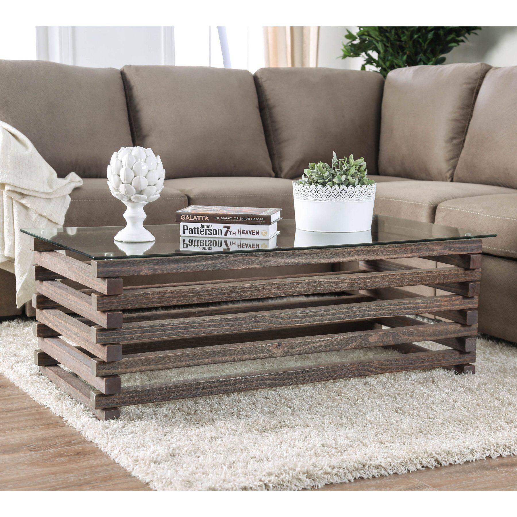 Furniture Of America Avanti Industrial Gray Coffee Table Coffee