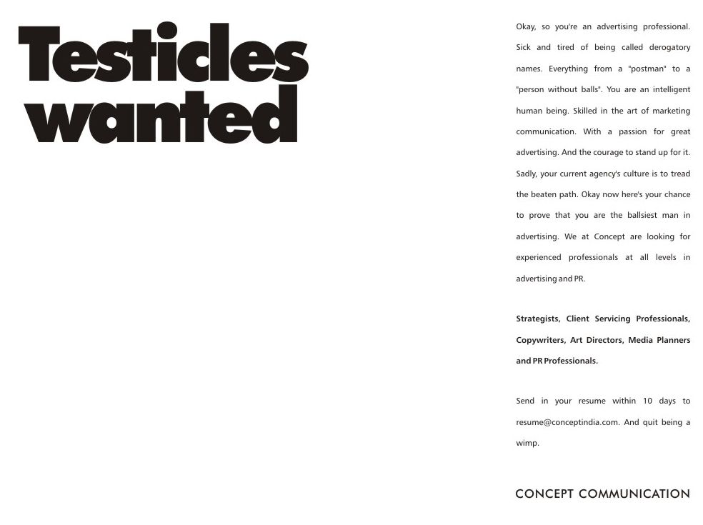 Funniest Creative Job And Recruitment Ads  Job Ads Ads And