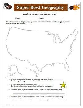FREE Football Geography Activity | Geography activities ...