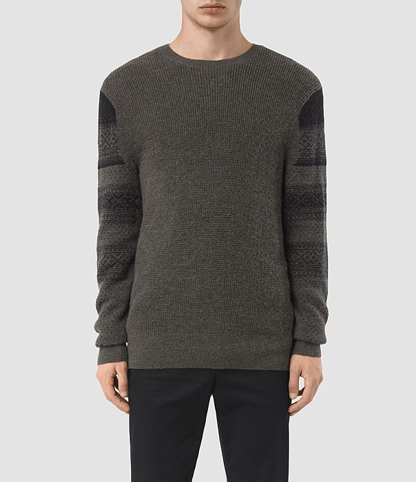 AllSaints New Arrivals: Mens Wyre Crew Sweater