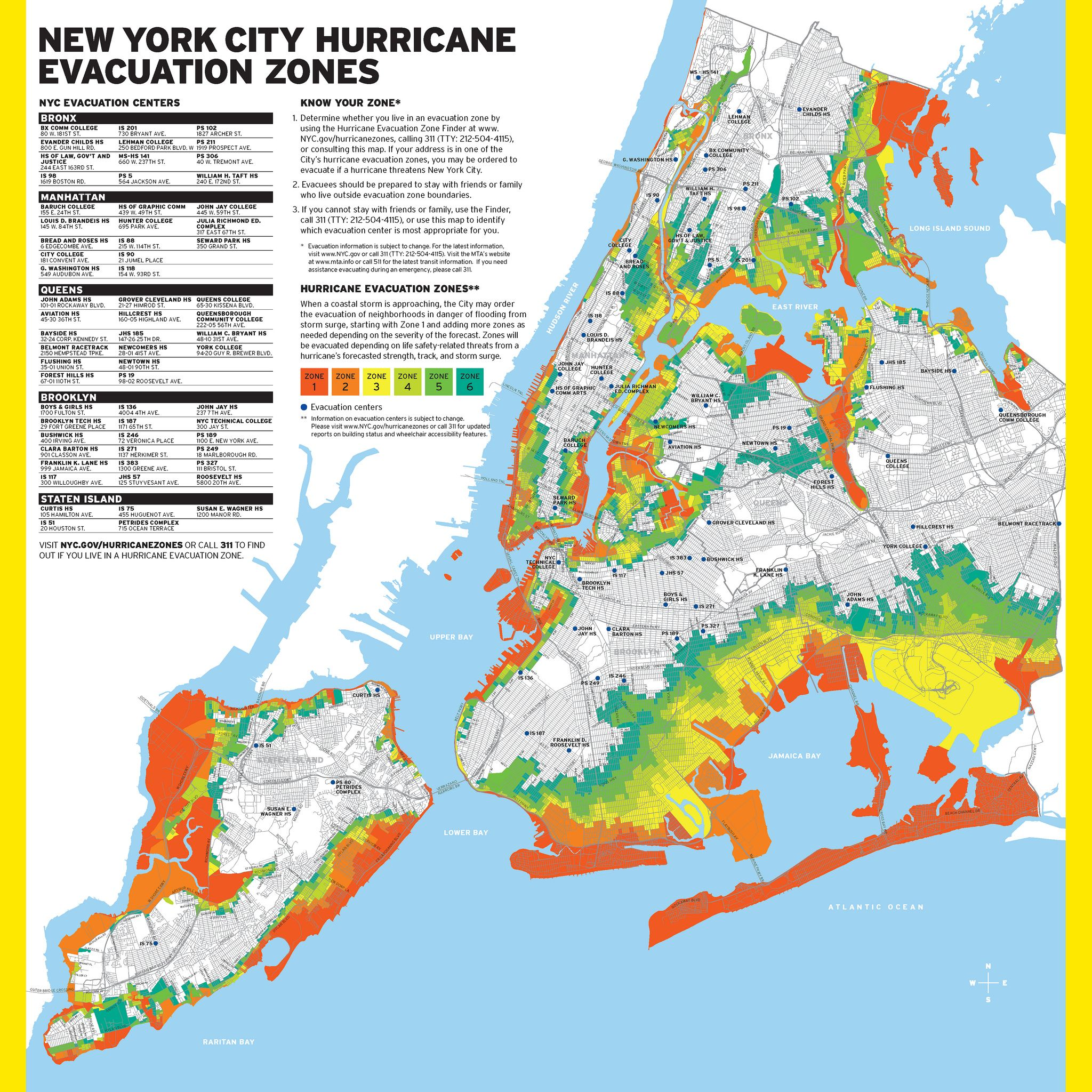 New York City Hurricane Evacuation Zones Flood Zone Hurricane