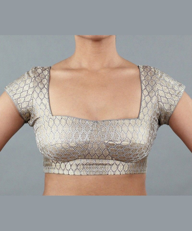 6d9f5ab551c Silver Brocade Blouse by Wild Orchid