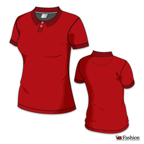 women s polo neck t shirt vector template sketch pinterest rh pinterest com polo shirt vector free download polo shirt vector side view