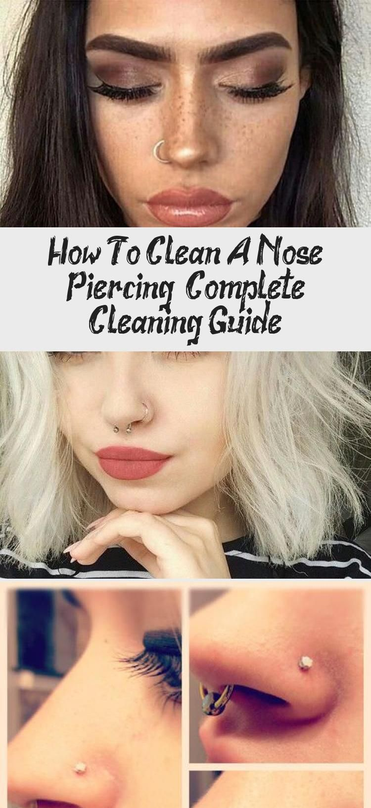 The ultimate guide to cleaning your new nose piercing
