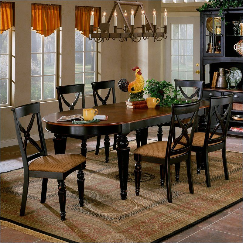 Hillsdale Northern Heights 5 Piece Oval Dining Table Set In Black Glamorous Oval Dining Room Table Set Review
