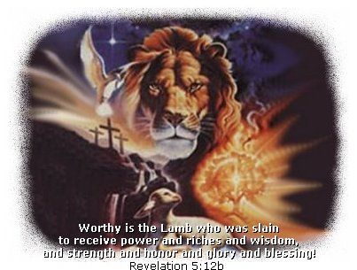 Worthy Is The Lamb Who Was Slain To Receive Power And Riches And