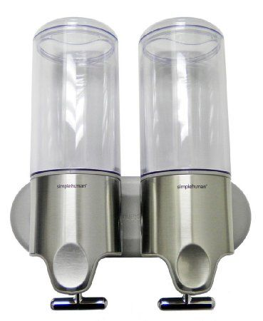 Amazon Com Simplehuman Stainless Steel Wall Mount Pumps Twin