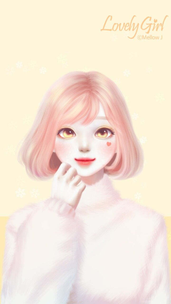 Enakei Gambar Wajah Gadis Animasi Seni Digital