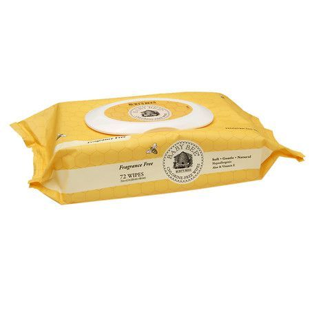 Burt/'s Bees Baby Chlorine-Free Wipes 72 Wipes... Unscented Natural Baby Wipes