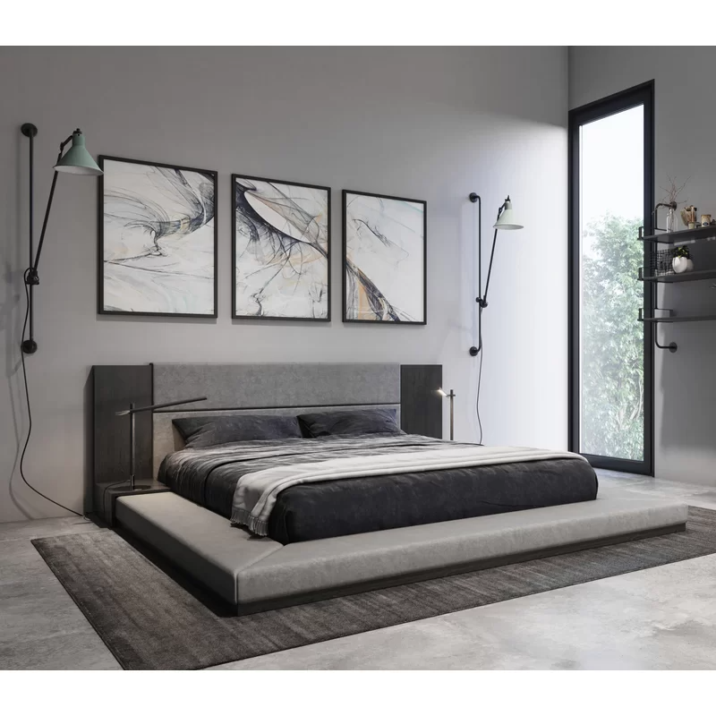 Foundry Select Defalco Upholstered Platform Bed & Reviews