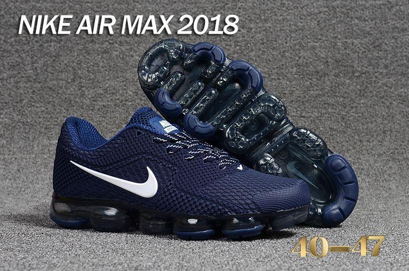 96c6b6c5af209 Factory Authentic Nike Air VaporMax 2018 KPU Peacock Blue White Black