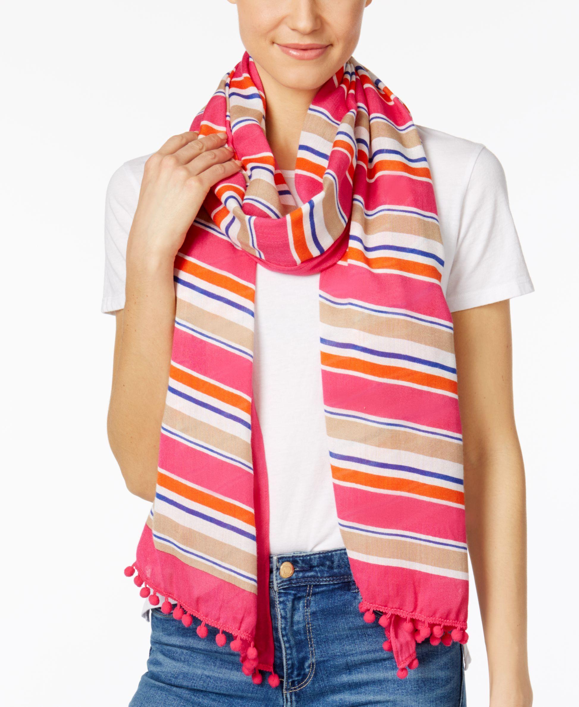 08e8f0912260 Michael Michael Kors Madison Stripe Scarf   Products   Pinterest