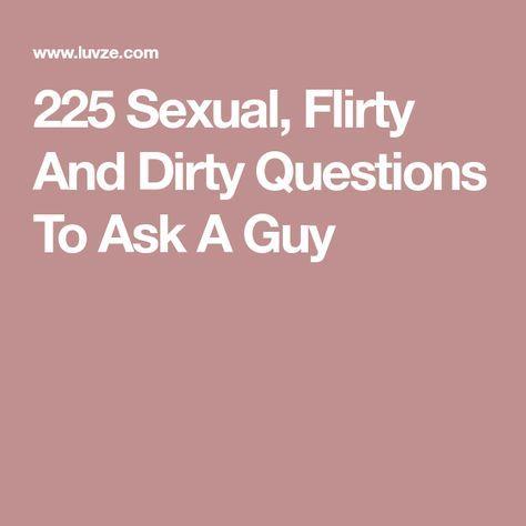 Flirty sex questions