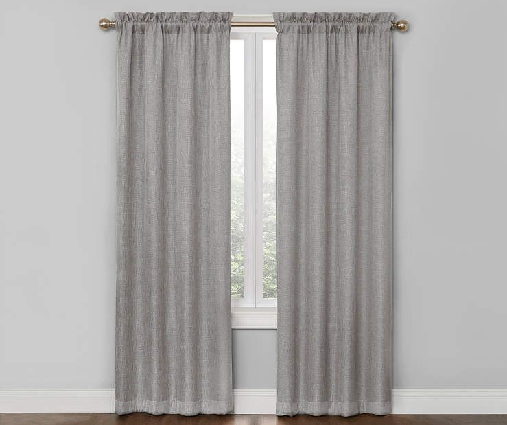 Bergen Gray Blackout Curtain Panel Pair 84 At Big Lots Grey Blackout Curtains Panel Curtains Curtains