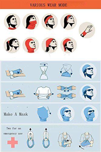 Magic Headwear Color Pattern Outdoor Scarf Headbands Bandana Mask Neck Gaiter Head Wrap Mask Sweatband
