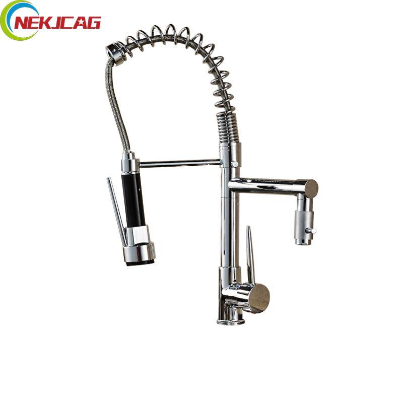 double spout kitchen sink faucet