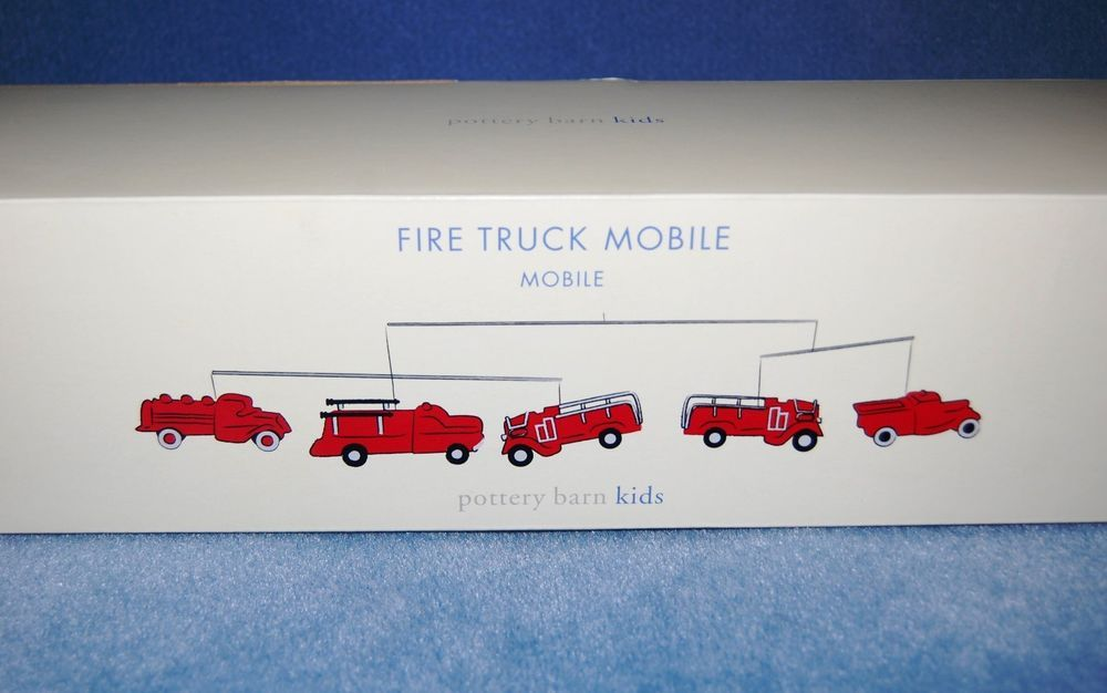 Pottery Barn Kids Fire Truck Mobile New In Box Vintage Engines Rare