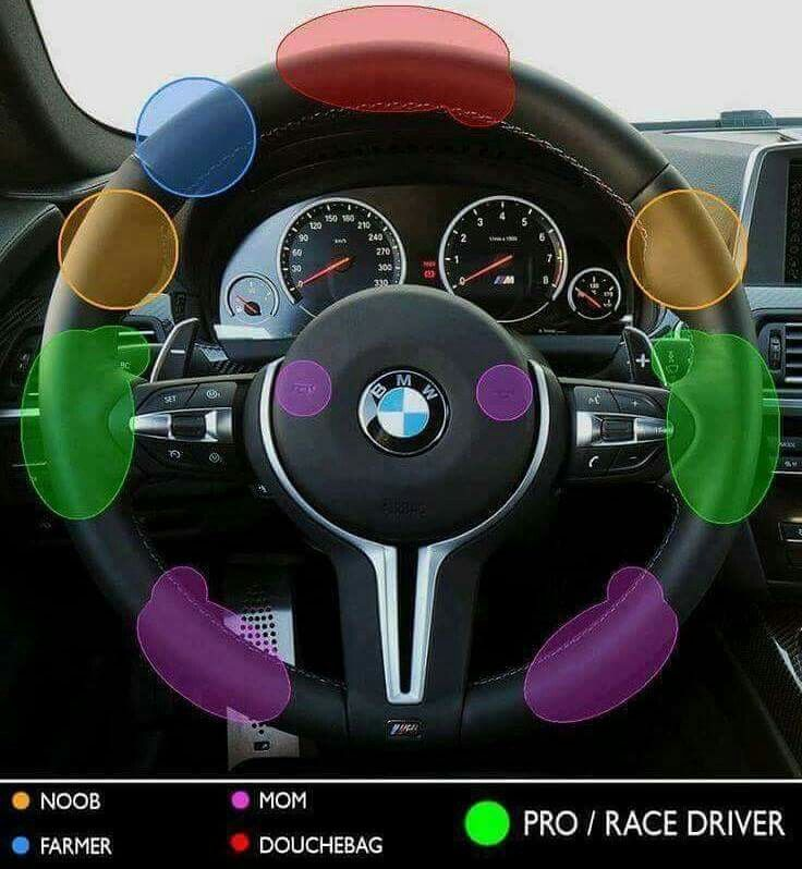 This Is A Bmw Steering Wheel So Regardless Of Hand Placement