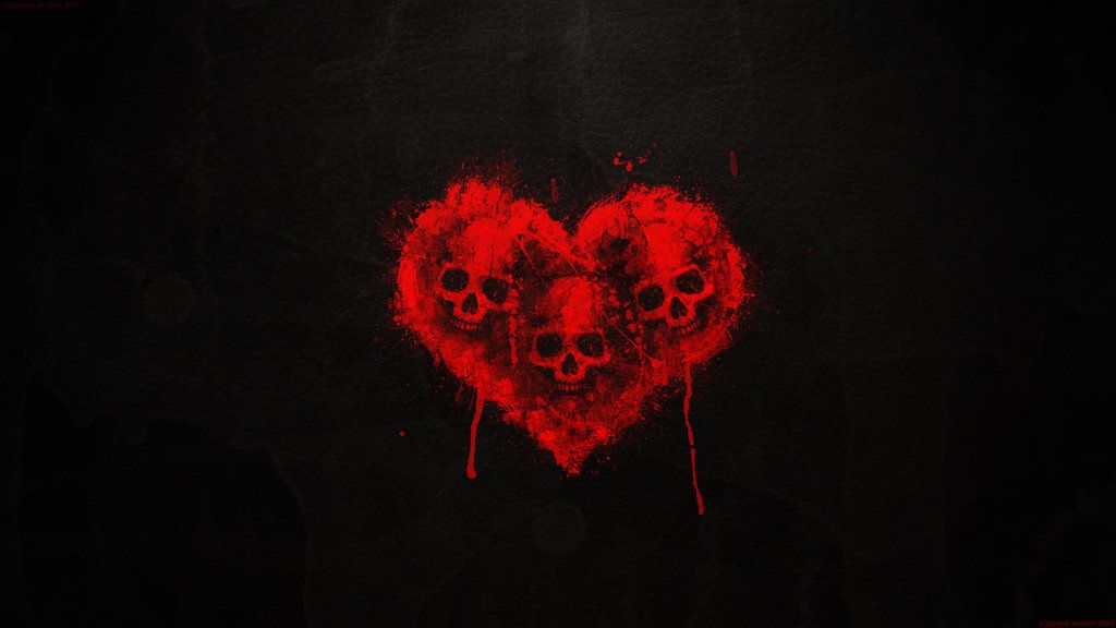 Valentine S Wallpaper 2013 By Garyckarntzen Deviantart Com On Deviantart Black Skulls Wallpaper Heart Wallpaper Skull Wallpaper Blood heart wallpaper hd
