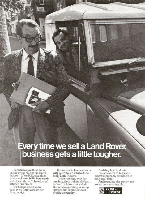 Every time we sell a Land Rover, business gets a little tougher #LandRover