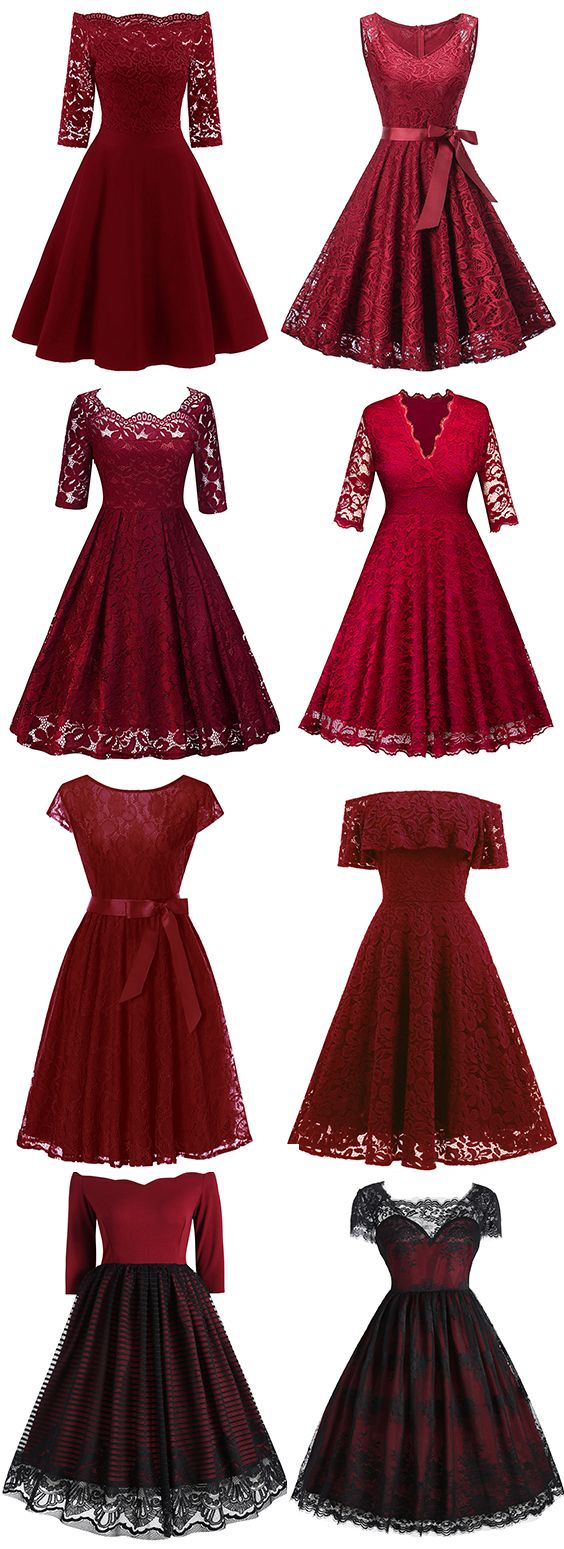 5% OFF Red Dresses.Free Shipping Worldwide.#LaceDress#Dress