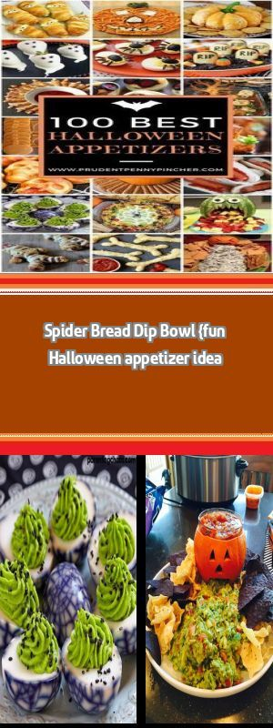 Spider Bread Dip Bowl {fun Halloween appetizer idea In today's post: This spider bread dip bowl is easier to make than you'd think! Pair it with veggies for a great Halloween appetizer or party food idea. When it comes to Halloween food, I am really not into the gross out ideas. I know, that probably means I'm getting old (I am) and grumpy … #halloweenfoodforparty Spider Bread Dip Bowl {fun Halloween appetizer idea In today's post: This spider bread dip bowl is easier to make than you� #halloweenappetizerideas