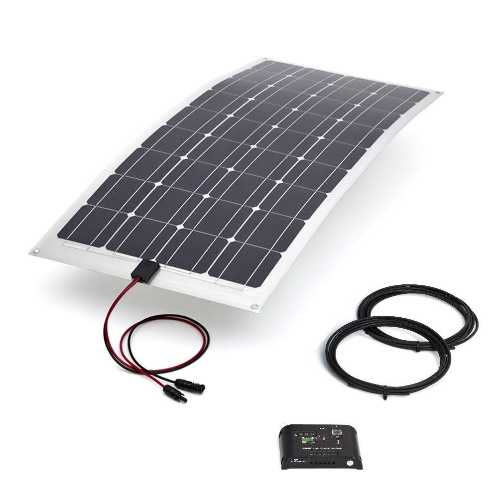 100w Semi Flexible Kit With 10amp Controller 5m Cable 1240mm X 570mm X 2 5mm Just Example Find Best Buy Sp Solar Panel Kits Flexible Solar Panels Solar