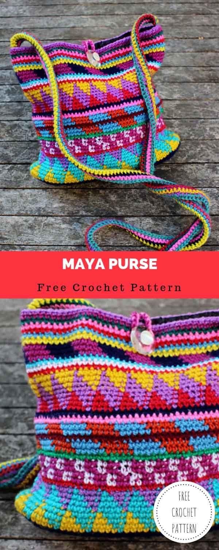 Maya Purse [FREE CROCHET PATTERN #crochethooks