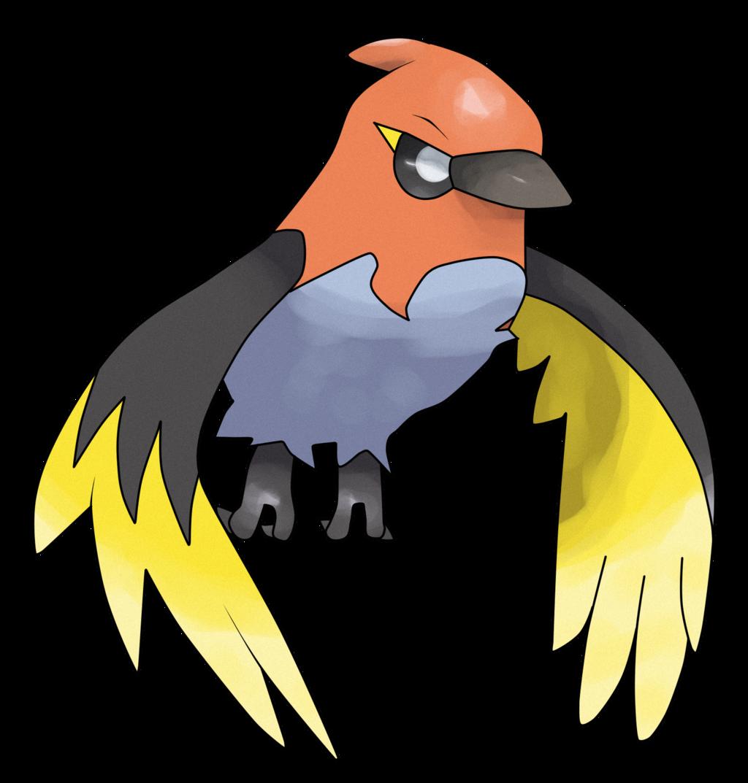 Fletchinder by decokunviantart on deviantart pokemon