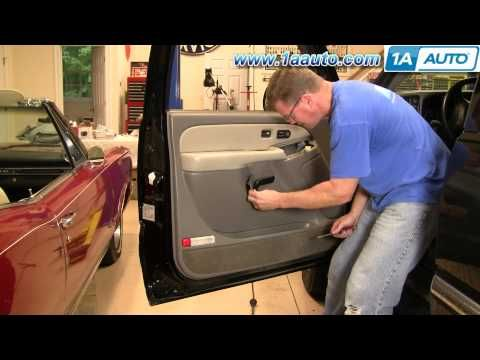 How To Install Replace Door Panel Chevy Gmc Silverado Sierra Tahoe Yukon 99 02 1aauto Com Replace Door Panel Doors Yukon