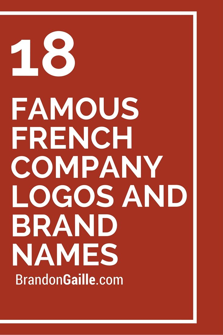 Famous French Company Logos And Brand Names With Images Brand