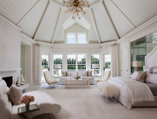 Absolutely stunning master bedroom featuring a dramatic shiplap – Dream Master Bedrooms