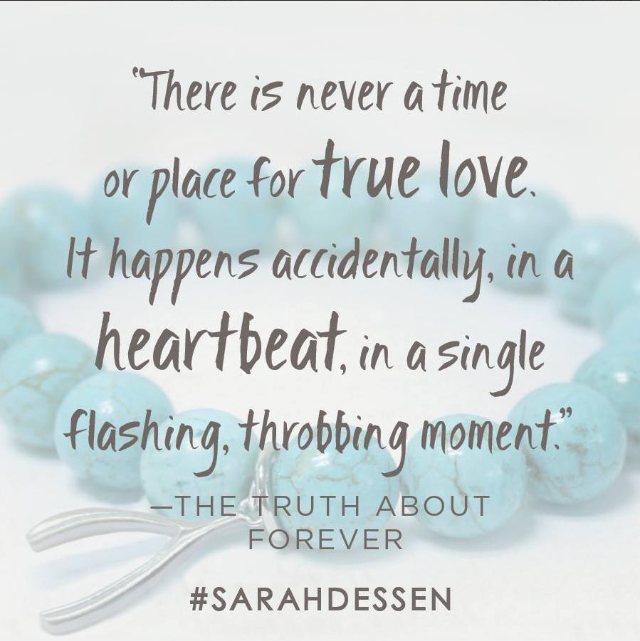 The Truth About Forever By Sarah Dessen Penguinrandomhousecom